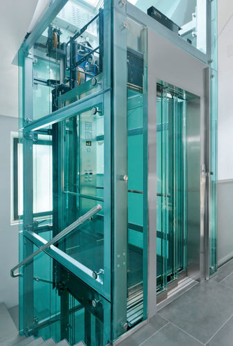 Electric elevator / home / for high-rise buildings / machine room-less GECO Sele