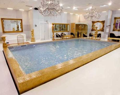In-ground swimming pool / concrete / polymer block / indoor PISCINES MAGILINE