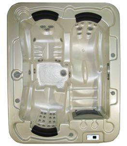 above-ground hot tub / rectangular / 3-seater