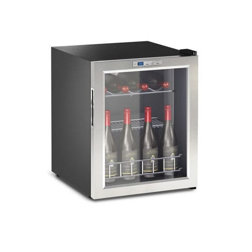 commercial wine cabinet / stainless steel / electric