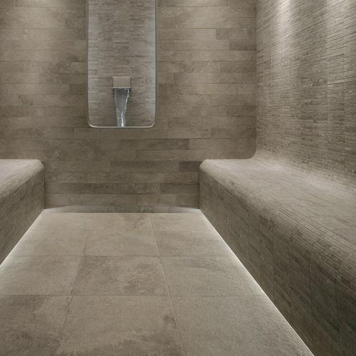 Outdoor tile / wall / floor / porcelain stoneware GEO : IVOIRE Novoceram sas