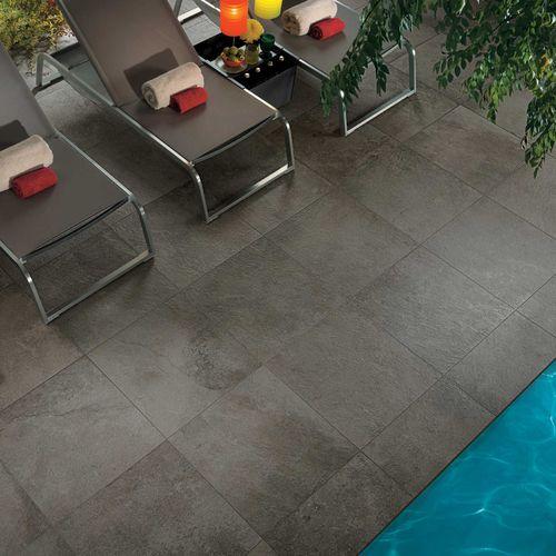 Outdoor tile / wall / floor / porcelain stoneware GEO : GRIS OUTDOOR PLUS Novoceram sas