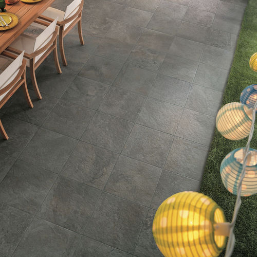 Outdoor tile / wall / floor / porcelain stoneware GEO : GRIS Novoceram sas
