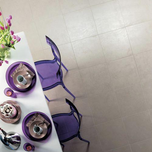 Floor tile / porcelain stoneware / plain / polished VERTIGE : GRIS Novoceram sas