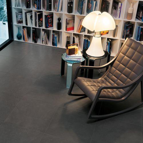 Indoor tile / outdoor / floor / porcelain stoneware ZEN : GRAPHITE Novoceram sas