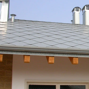 zinc shingle / for roofs / for facade cladding