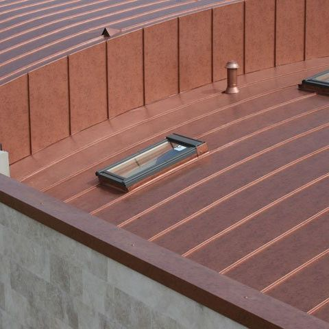 Copper roofing / upright joint MAZZONETTO