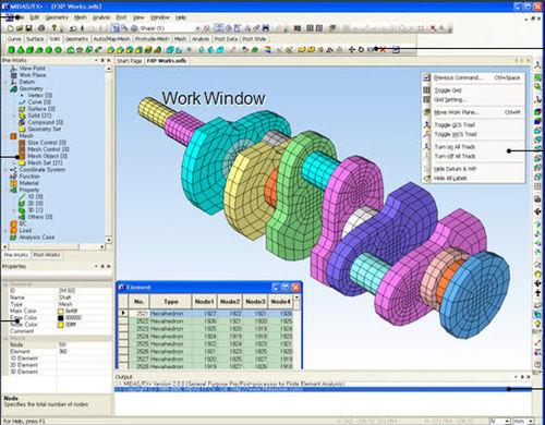 Structural calculation software / CAD / for concrete structures / 3D  MIDAS FX+ MODELER MIDASIT