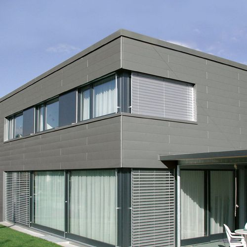 aluminum cladding / smooth / grooved / panel