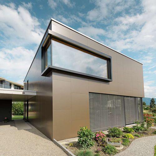 Aluminum cladding / composite / smooth / panel PREFA Aluminiumprodukte GmbH