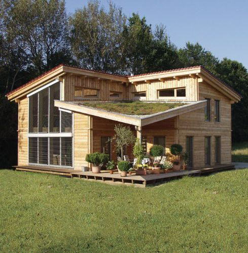 prefab house / individual / contemporary / larch