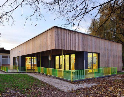 prefab building / solid wood / kindergarten / for public use