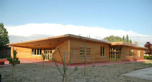 prefab building / solid wood / kindergarten / contemporary