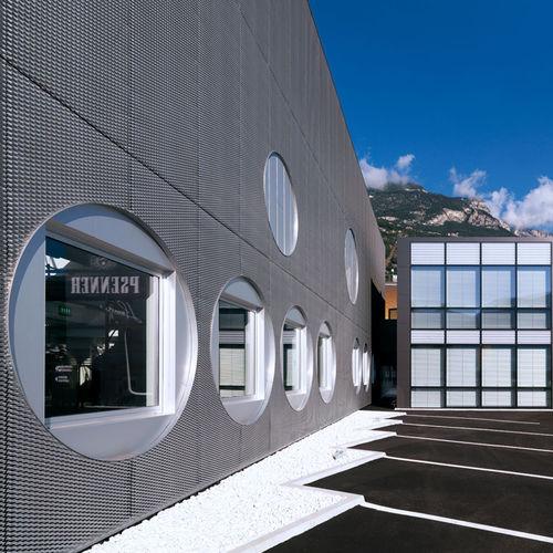 ventilated facade cladding / copper / zinc-titanium / perforated
