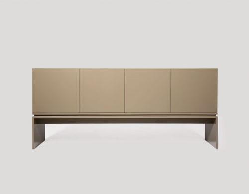 contemporary sideboard / oak / walnut / ebony