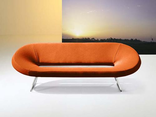 Contemporary sofa / steel / aluminum / fabric BARNY by Giorgio Manzali INVENTA contract