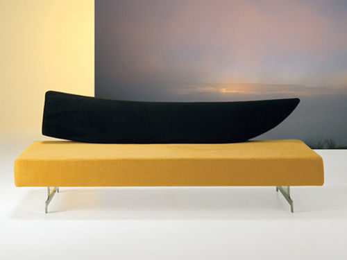 Contemporary sofa / wooden / steel / fabric GRENADA by Giorgio Manzali INVENTA contract