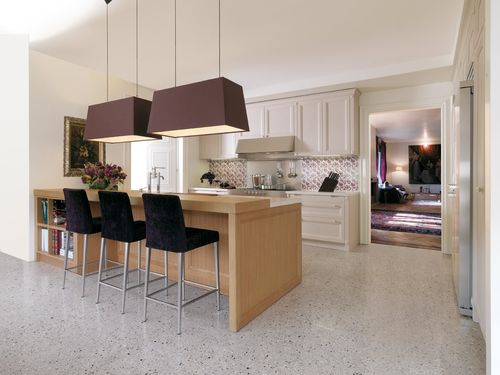 Contemporary kitchen / solid wood / wood veneer / wooden CASHMERE CASTAGNA CUCINE