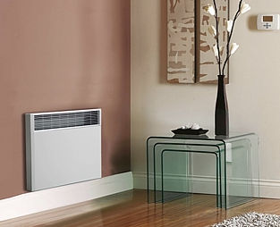 electric radiator / storage / stainless steel / contemporary
