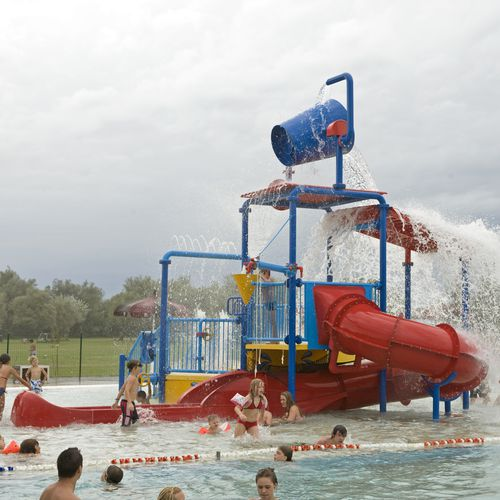 water park play structure / stainless steel
