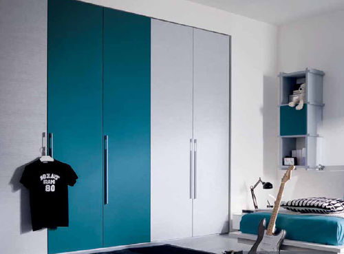 contemporary wardrobe / wooden / with swing doors / boy's