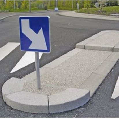 sidewalk edge / engineered stone / curved