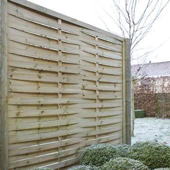 garden fence / louvered / pine