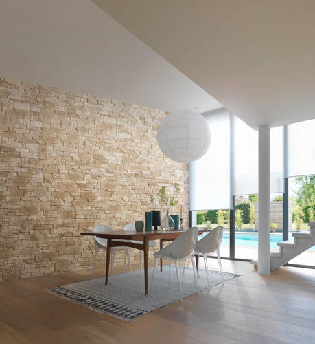 engineered stone wall cladding / for indoor use / exterior