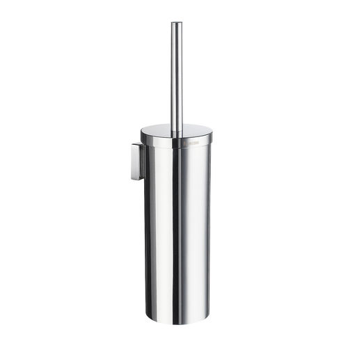 chrome-plated brass toilet brush holder / wall-mounted / for hotels