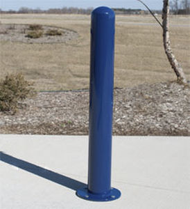security bollard / galvanized steel / stainless steel / removable