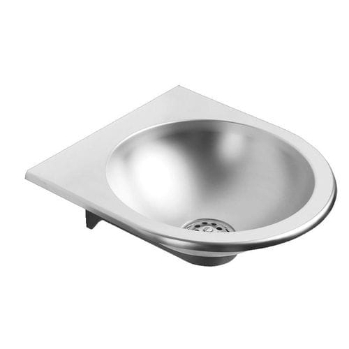 wall-mounted washbasin / stainless steel / contemporary