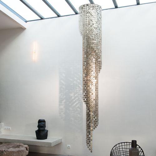 Contemporary chandelier / metal SPIRALE BUBBLE by Hervé Langlais LE LABO DESIGN