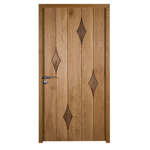 entry door / swing / wooden / thermally-insulated