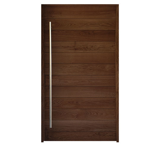 pivoting door / entry / swing / solid wood