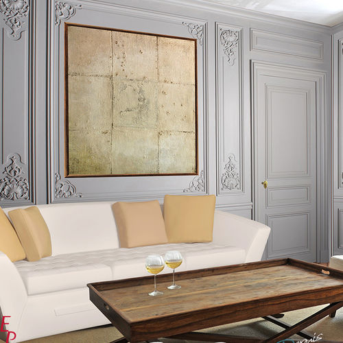 wall-mounted paneling / wooden / MDF