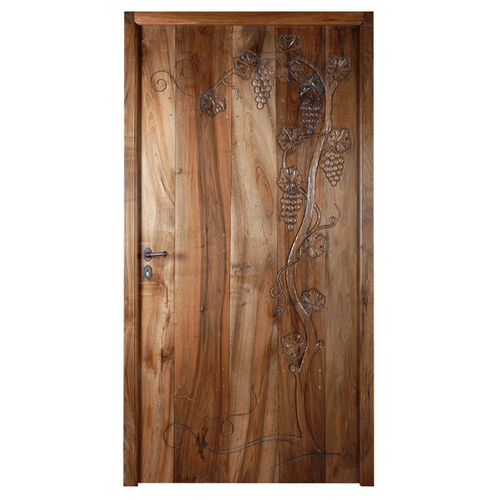 entry door / swing / solid wood / security
