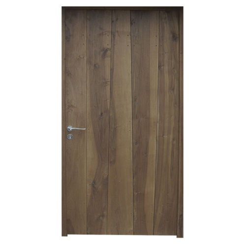 entry door / swing / solid wood / thermally-insulated
