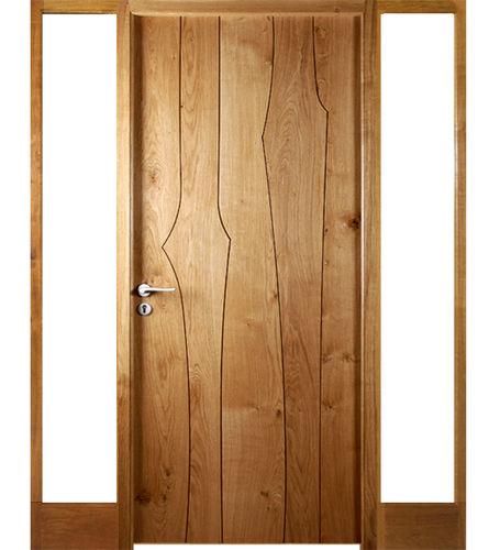 entry door / swing / oak / security