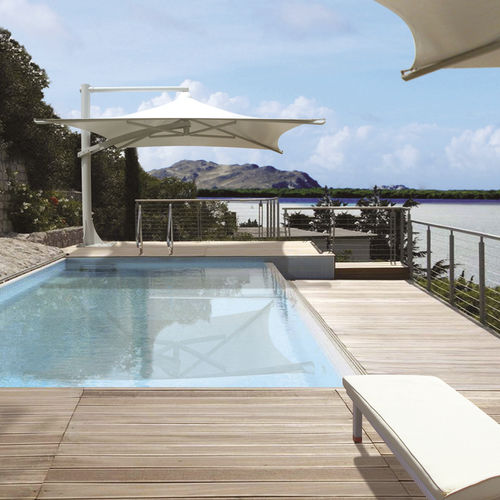 offset patio umbrella / steel / PVC