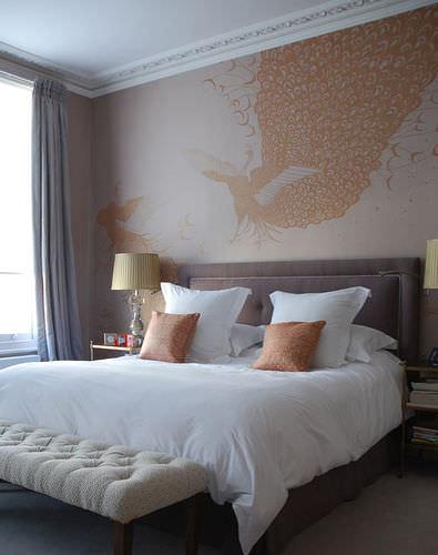 traditional wallpaper / silk / animal motif / patterned