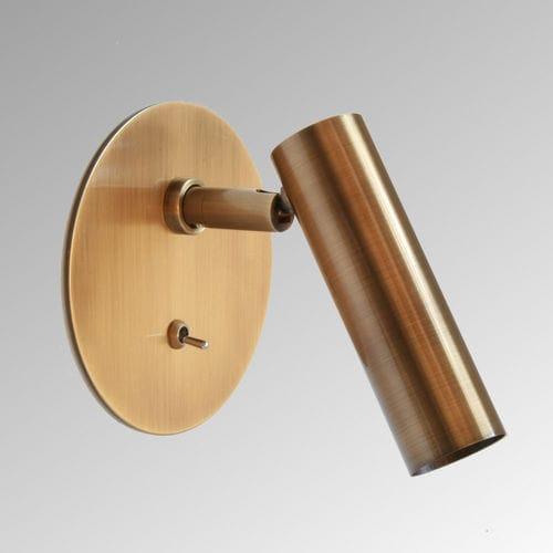 contemporary wall light / brass / LED / tubular