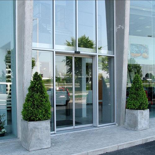 Entry door / sliding / glass / aluminum DIVA, DIVA L, TINA PORTALP INTERNATIONAL