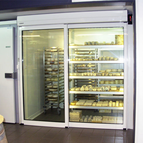 Indoor door / sliding / aluminum / automatic DIVA ECOENERGY PORTALP INTERNATIONAL