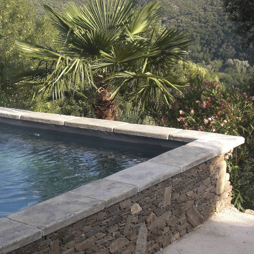concrete swimming pool coping - ROUVIERE