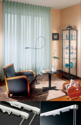 Cord-operated curtain track / ceiling mount / for drapes / for domestic use PROGETTO 420 MOTTURA