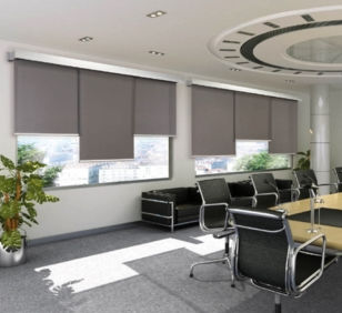 roller blinds / fabric / ceiling mounted / wall-mounted