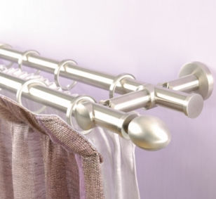 Curtain rod INOX MOTTURA