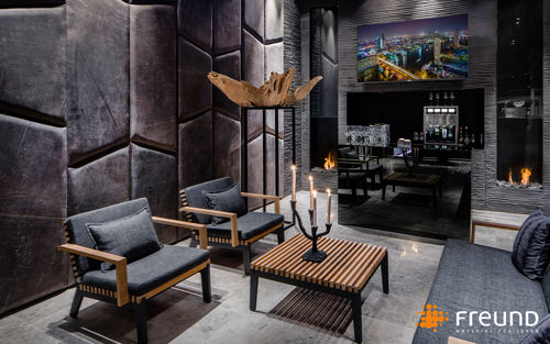 leather wallcovering / home / for offices / for public spaces