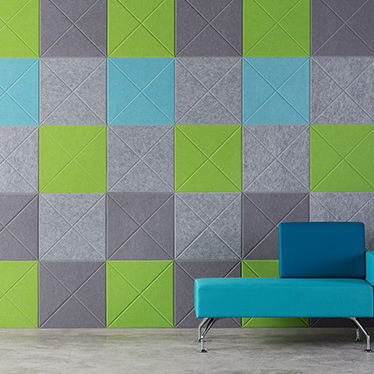 acoustic tile / indoor / wall / plastic