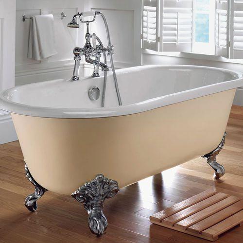 bathtub with legs / oval / cast iron / double